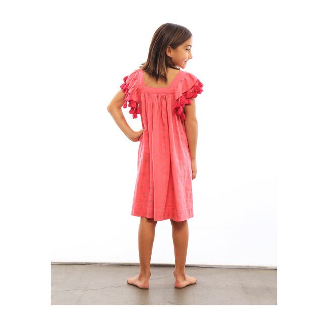 Serena Hearts Tassel Dress, Fuschia