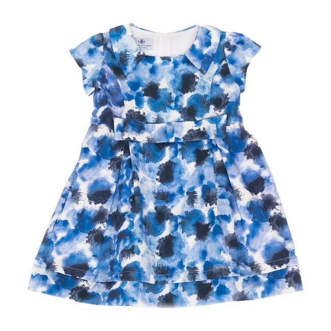 Printed Sabrina Dress, Blue