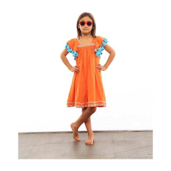 Serena Hugs & Kisses Tassel Dress, Orange