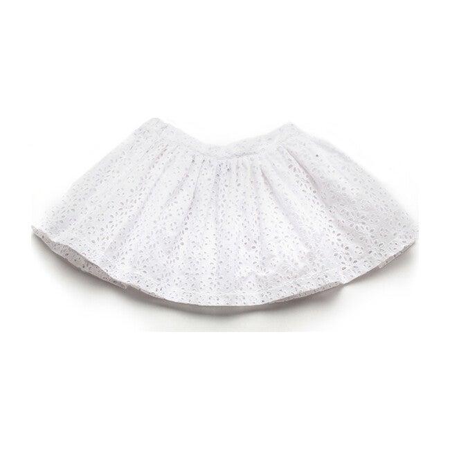 Ava Skirt, White Eyelet