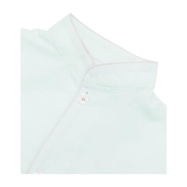Ray Striped Pyjamas Set, Green/White