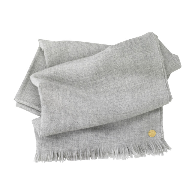 Baby Alpaca Throw, Soft Grey