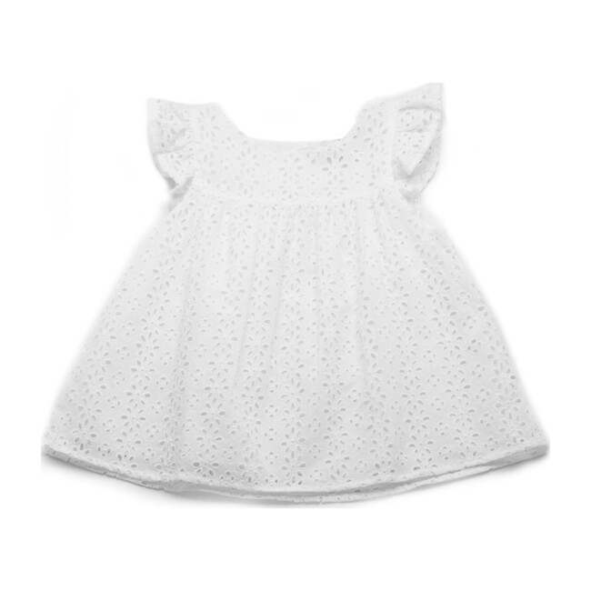 Lilly Top, White Eyelet