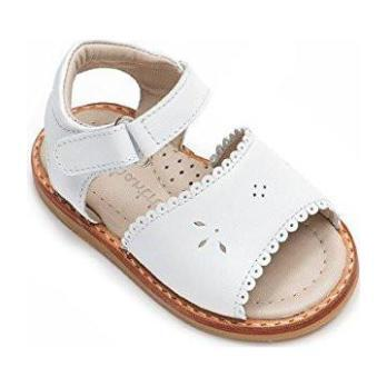Classic Sandal with Scallop, White
