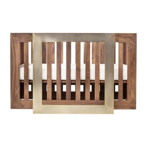 Lydian Crib, Walnut with 24k Gold