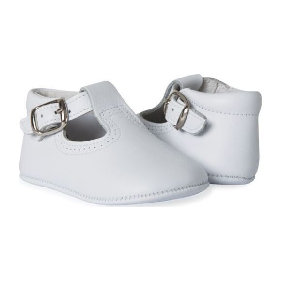 My-First T-Band Leather Pram Shoes