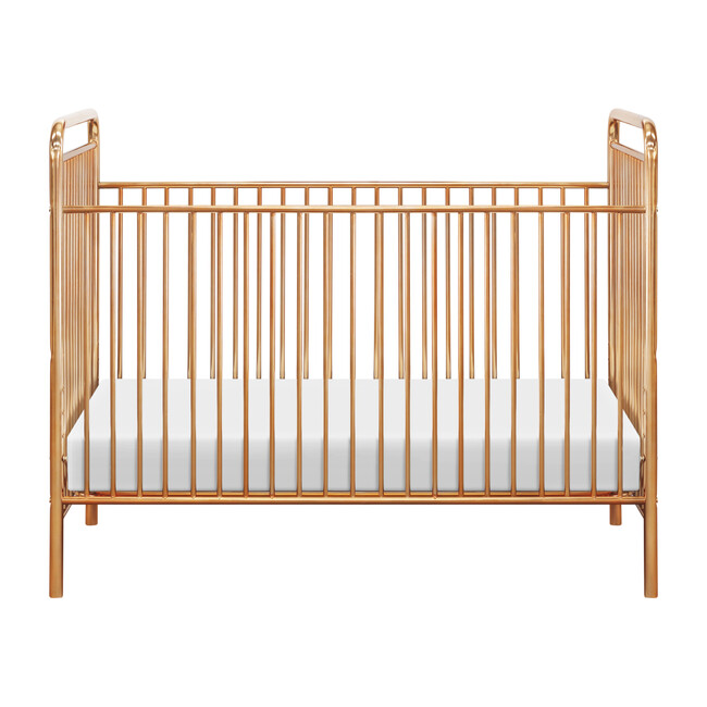 Jubilee 3-in-1 Convertible Metal Crib, Gold