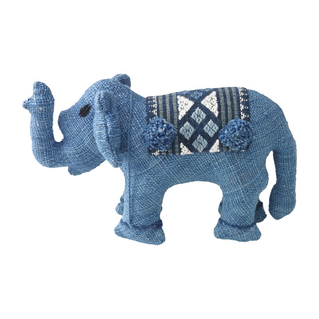 Baby Stuffed Elephant, Blue