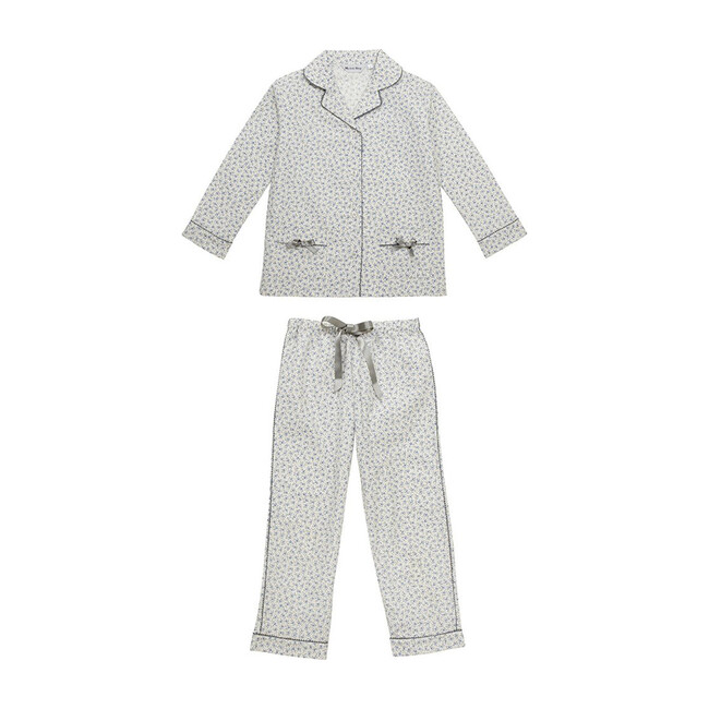 Delia Pajamas, Grey Floral Print