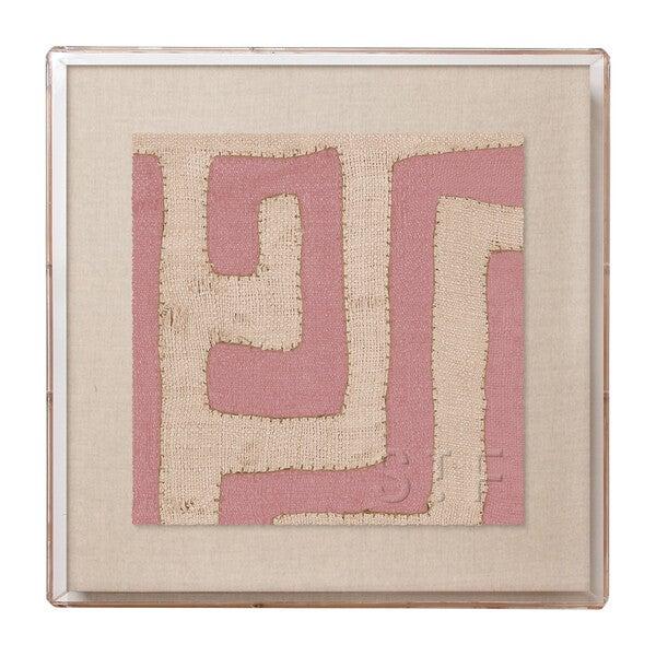 Mini Kuba Cloth Framed Print, Terracotta
