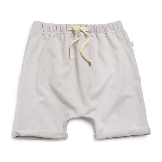 Cotton Terry Harem Shorts, Stone