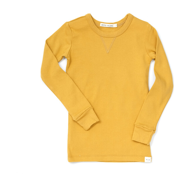 Dominique Long Sleeve Crew, Miel - Tees - 1