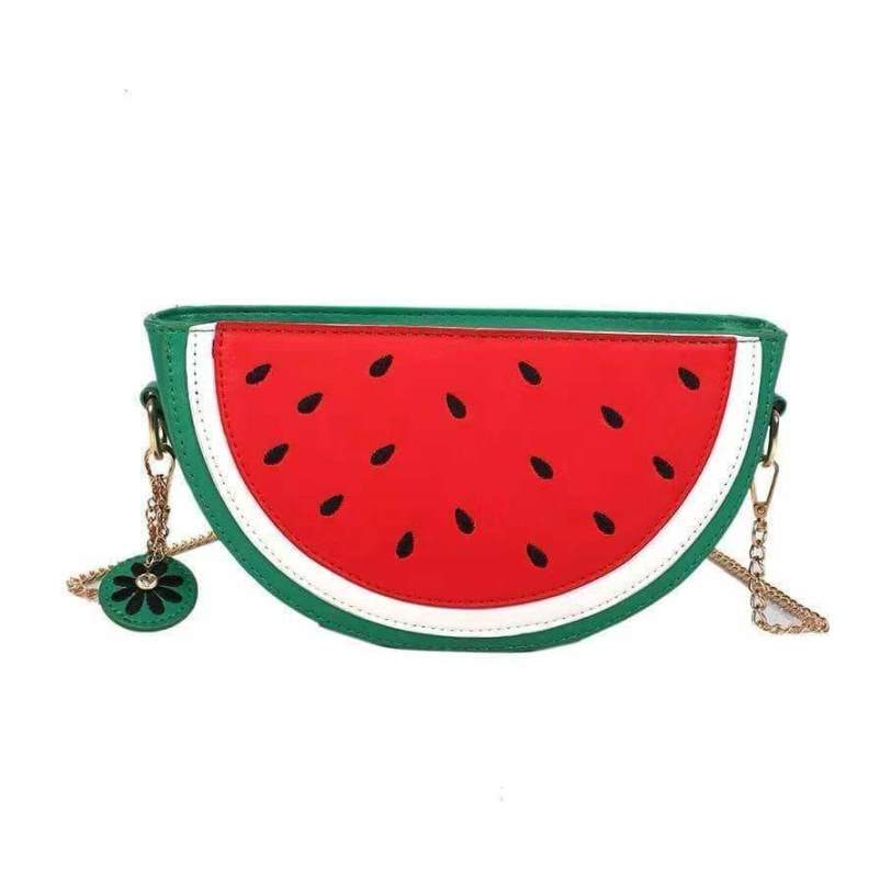 Leather /'Red Watermelon ToddlerBaby Girls  Crossover Coin Purse
