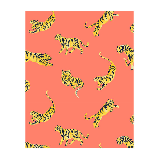 Tigers Removable Wallpaper, Watermelon
