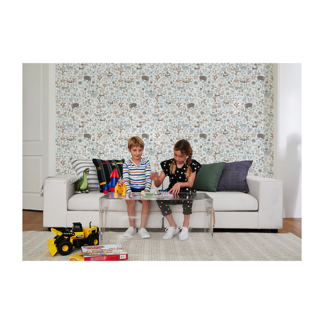 Menagerie Removable Wallpaper, Grey