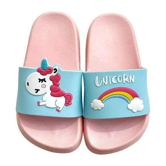 Unicorn Slides, Pink - Kids Girl