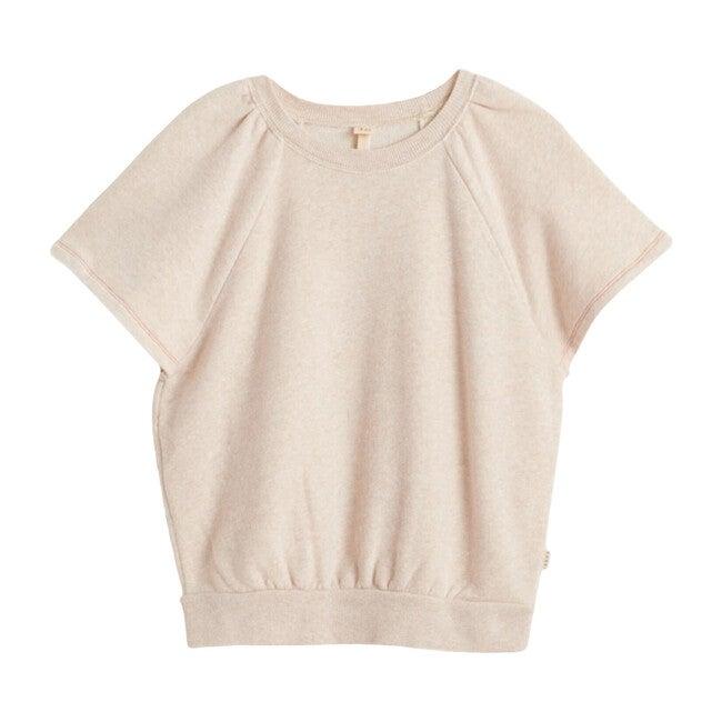 Vanou Short Sleeve Sweatshirt, Ecru