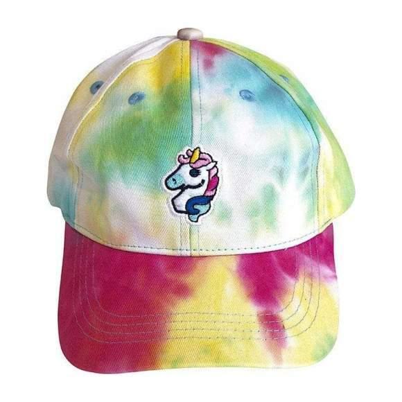 Tie Dye Unicorn Baseball Hat, Multi
