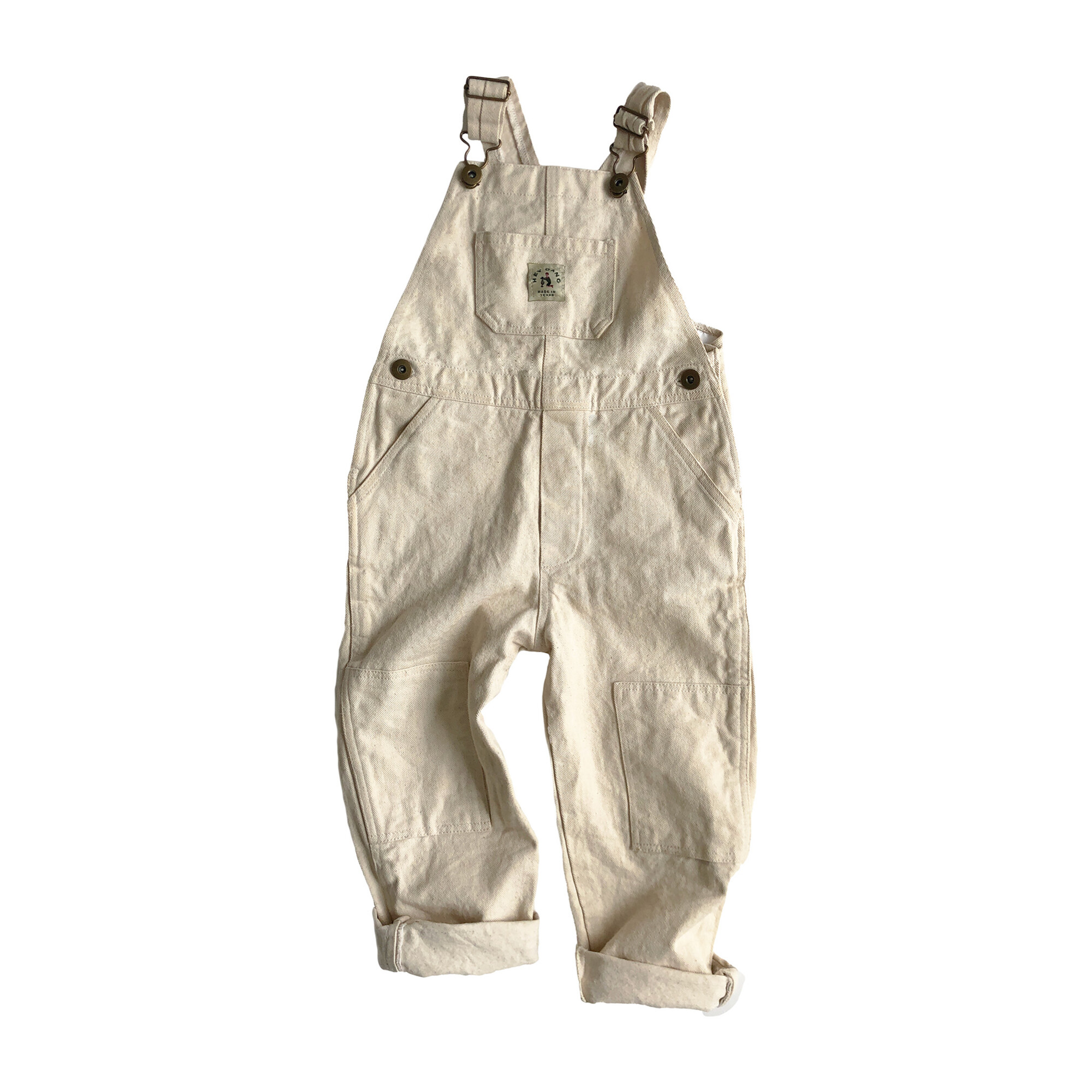 The Knee Patch Overalls, Natural