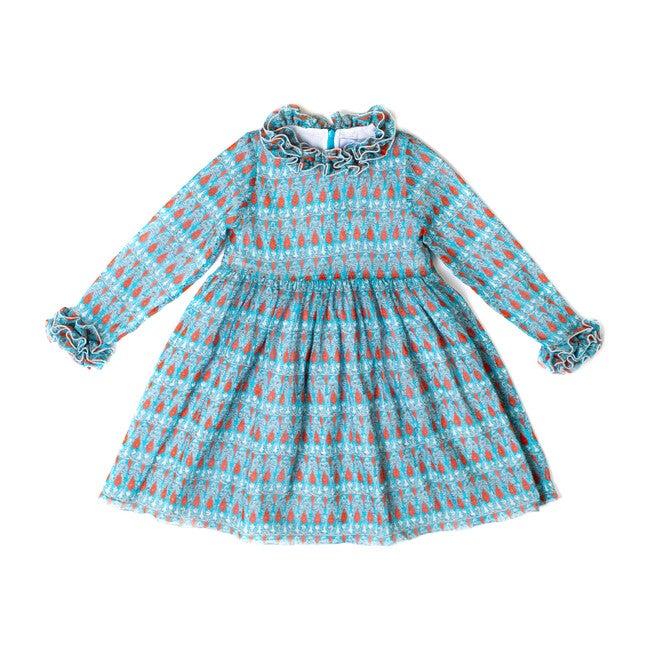 Turquoise Boho Dress
