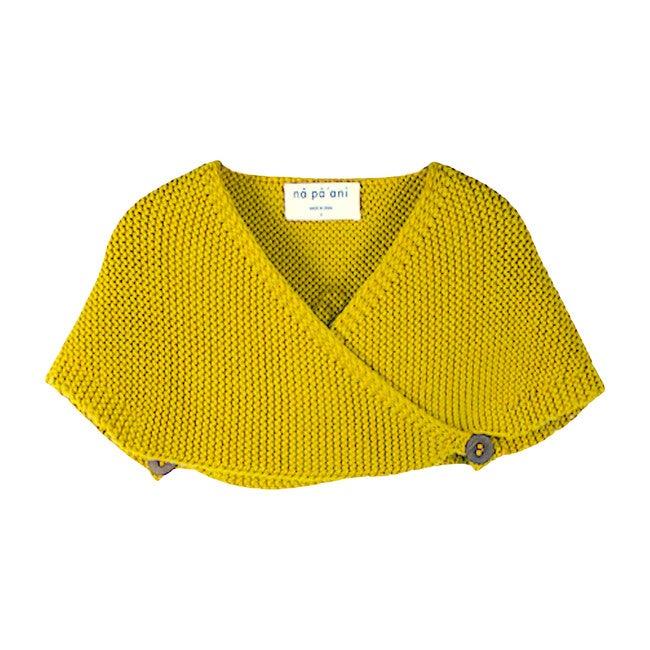 Lucia Knit Cape, Mustard