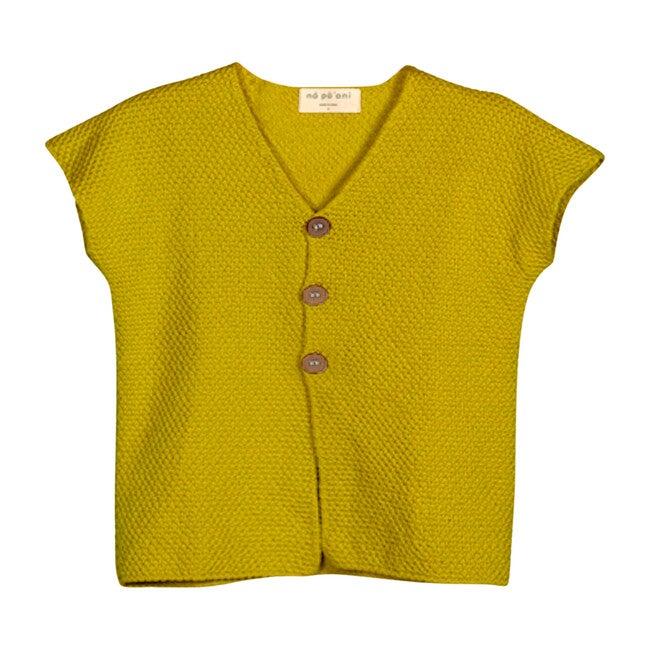 Max Knit Vest, Mustard
