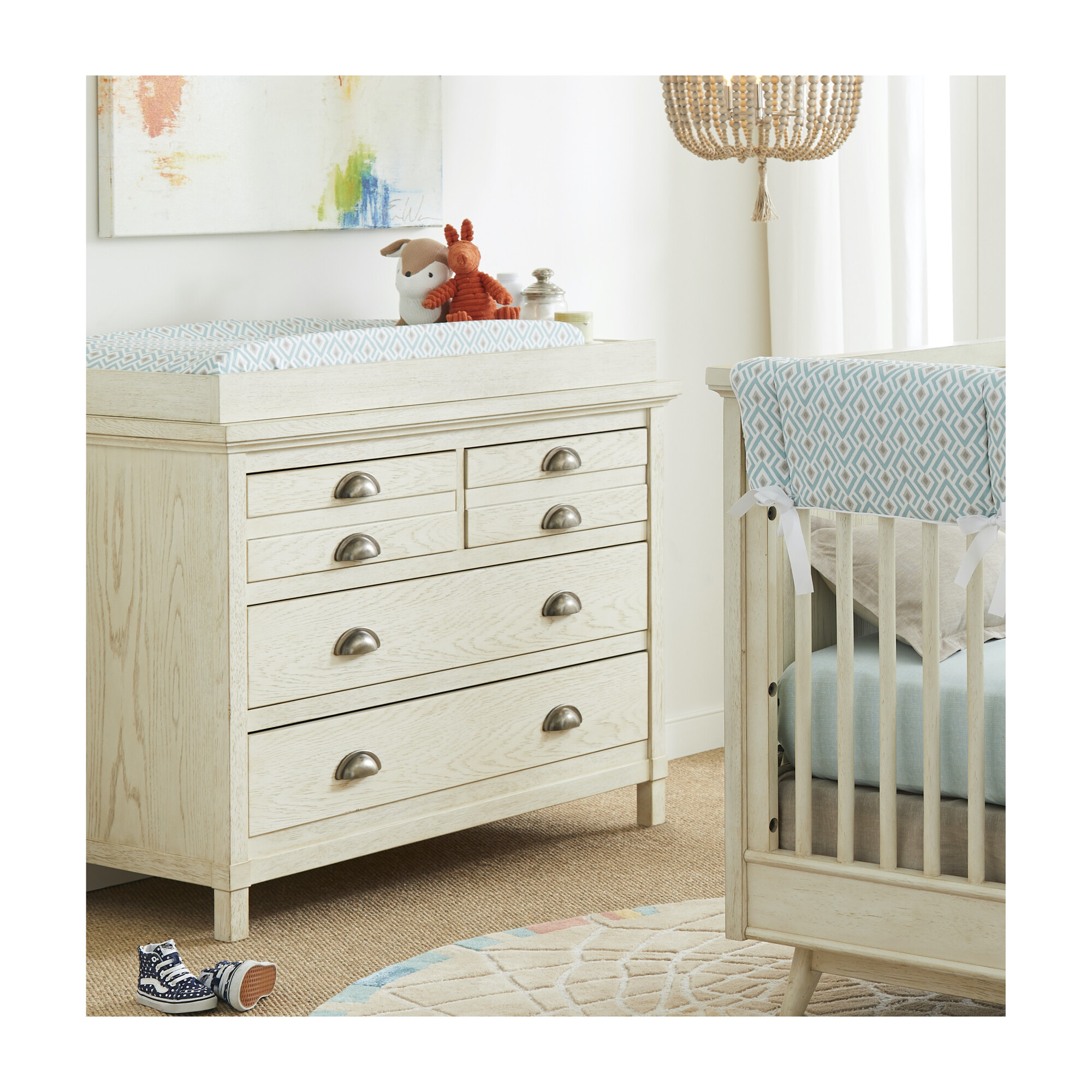 Driftwood Park Changing Station Vanilla Oak Home Furniture Dressers Changing Tables Maisonette