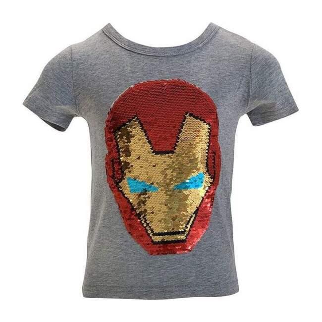 Superhero Flip T-Shirt, Grey