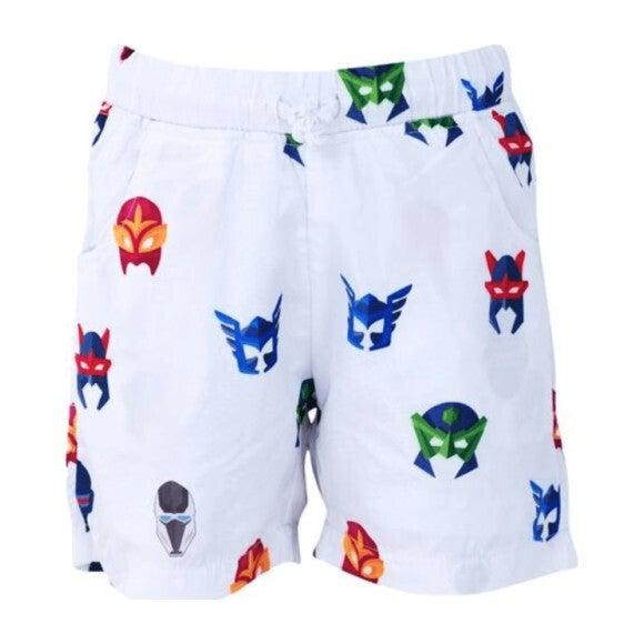 Superhero Swim Shorts, Black