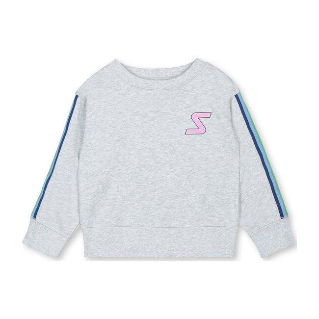 Rainbow Trim Sweatshirt, Grey