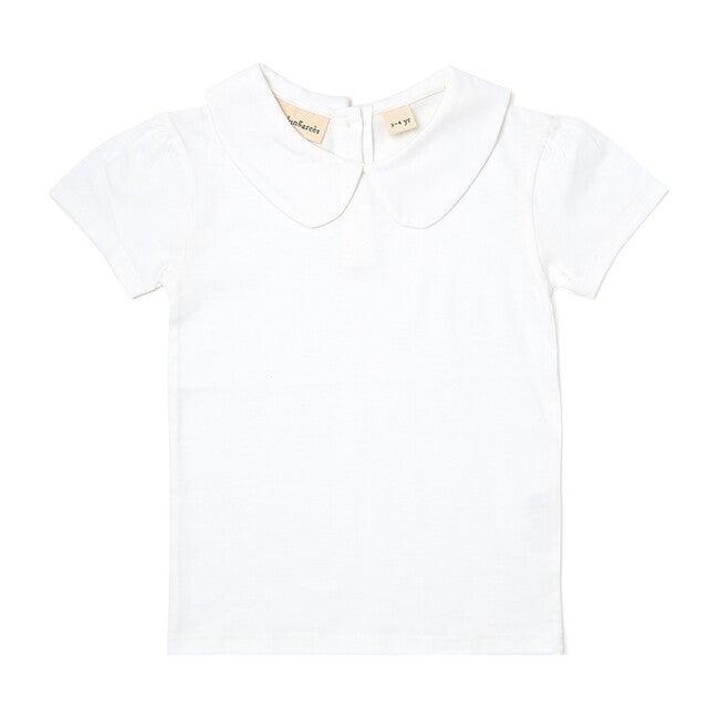 Organic Peter Pan Collar T-Shirt, Plain White