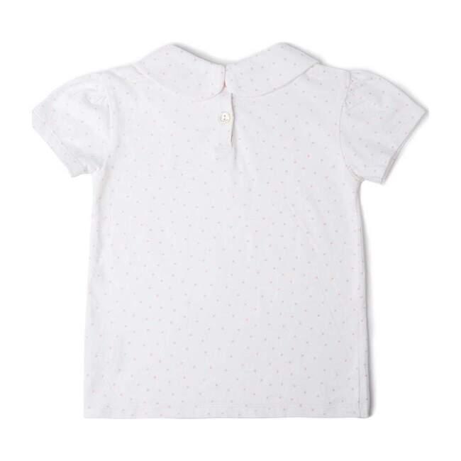 Organic Peter Pan Collar T-Shirt, Pink Spot
