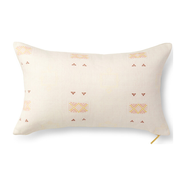 """Cactus Silk Pillow, Blush - 26"""" x 16"""""""