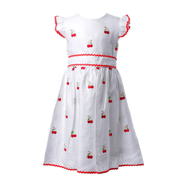 Cherry Dress, White
