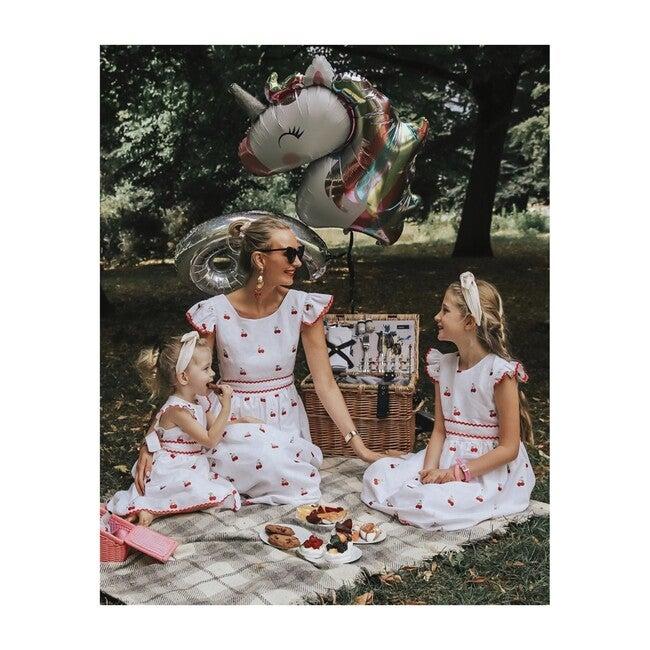 Women's Cherry Dress, White