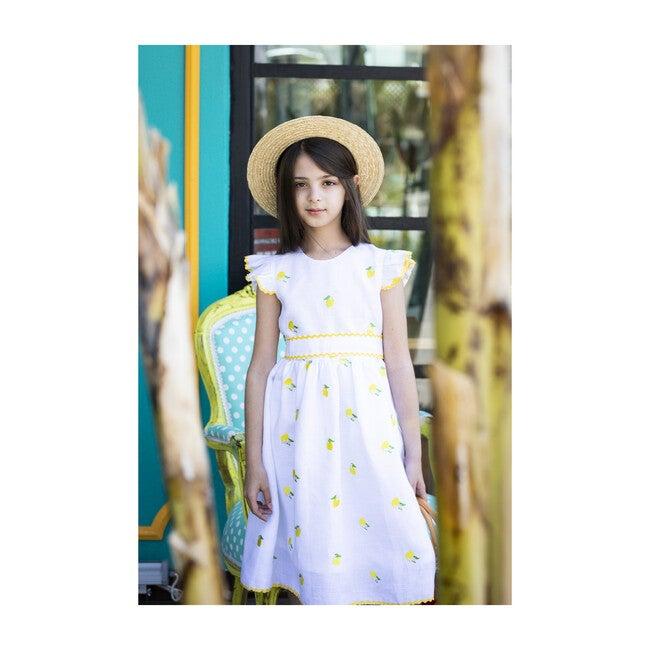 Lemon Dress, White
