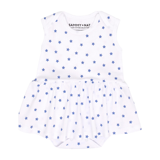 Mini Stars Riley Ballerina Romper in Blue