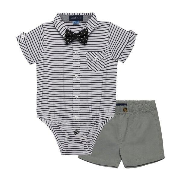 Baby 3-Piece Sunny Day Set, Grey Stripe
