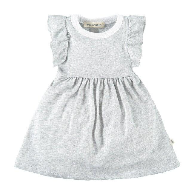 Ruffled Sleeve Dress, Harmony Grey