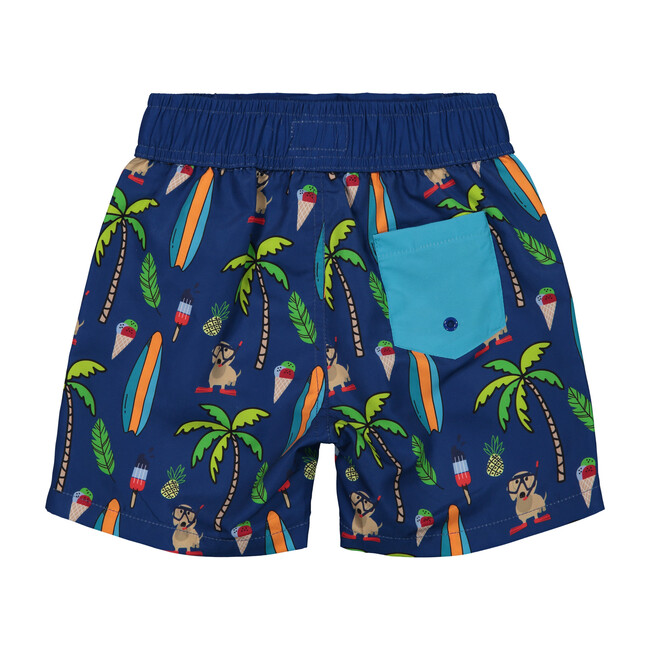 Cabana Chill Swim Trunk, Blue Surf