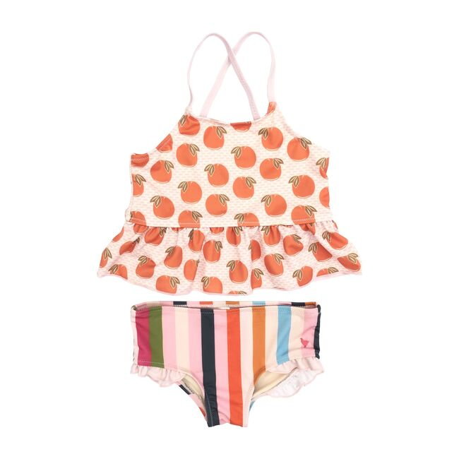 Joy Tankini, Cloud Pink Oranges - Two Pieces - 1 - zoom