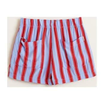 Peacock Stripe Shorts, Multi