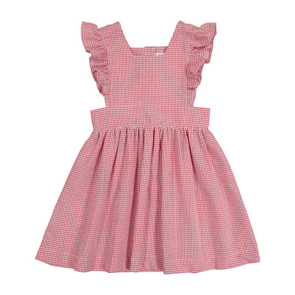 Gingham Pinny, Red