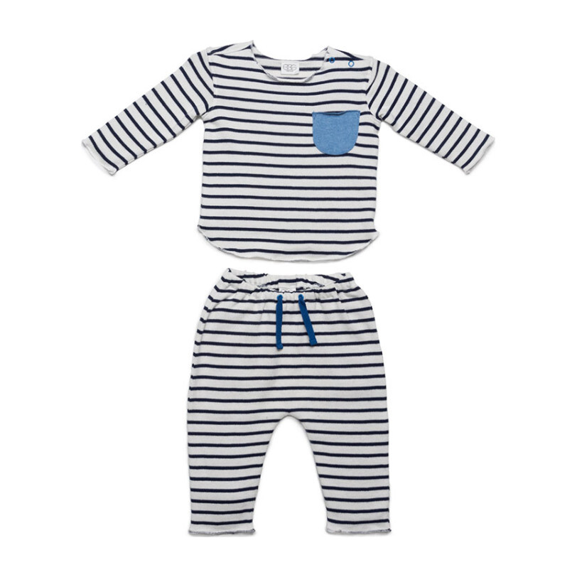 Bobbi Set, Navy Stripes