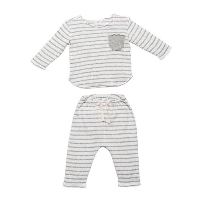 Bobbi Set, Grey Stripes