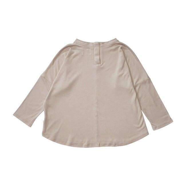 Organic Wide Body Long Sleeve Tee, Fawn