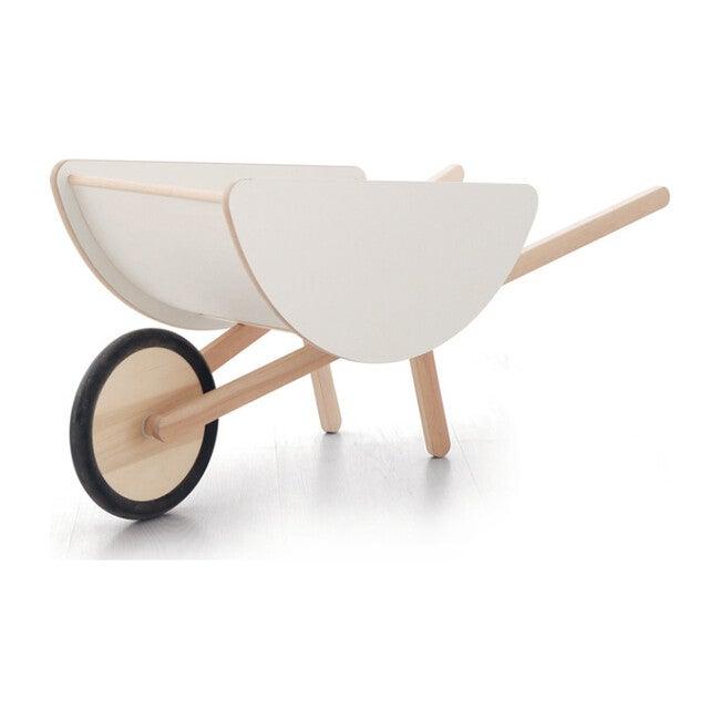 Toy Wheelbarrow, White