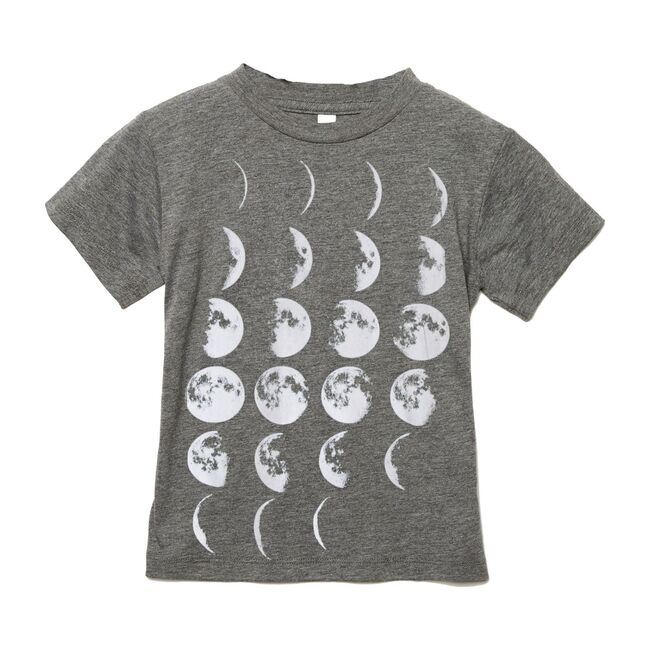 Many Moons Heather Crew Tee, Heather Grey
