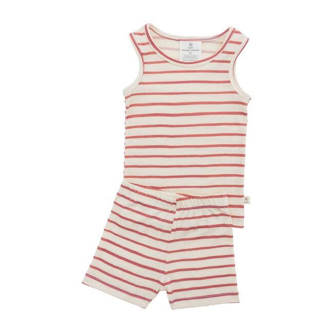 Merino Wool Short Johns, Rosebud Stripe