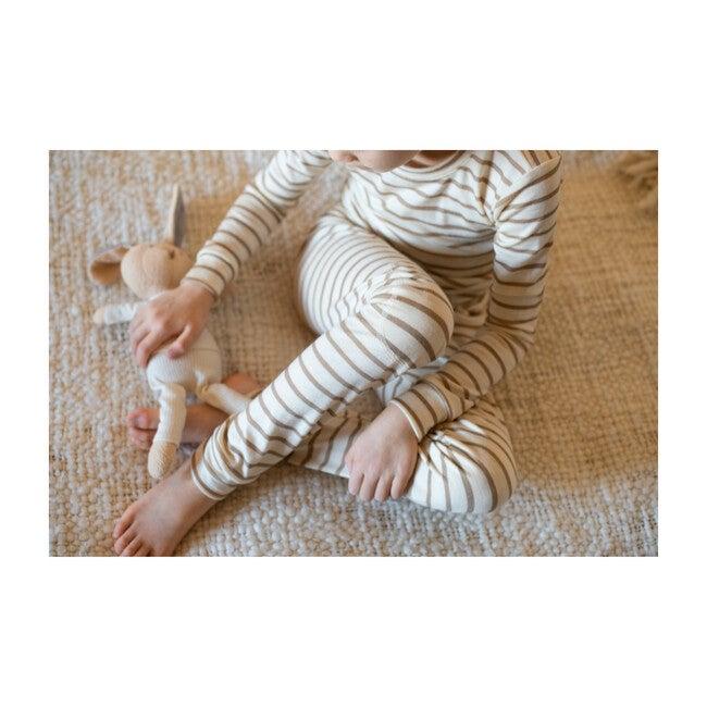 Merino Wool Long Johns, Dune Stripe